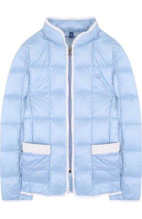 Стеганая куртка на молнии с воротником-стойкой | Фото №1