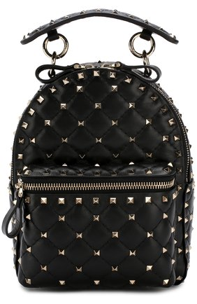 Женский рюкзак valentino garavani rockstud spike mini VALENTINO черного цвета, арт. PW0B0B63/NAP | Фото 1
