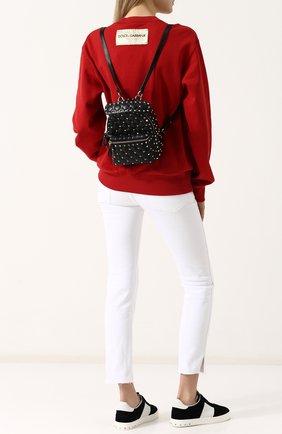 Женский рюкзак valentino garavani rockstud spike mini VALENTINO черного цвета, арт. PW0B0B63/NAP | Фото 2