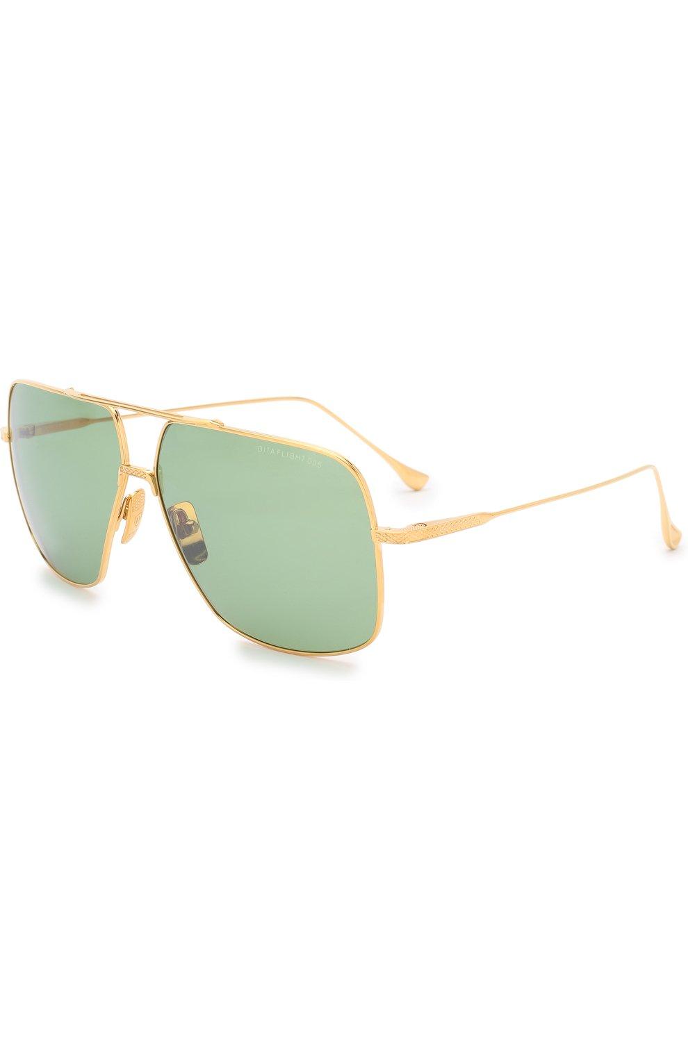 Женские солнцезащитные очки DITA золотого цвета, арт. FLIGHT.005/7805D | Фото 1