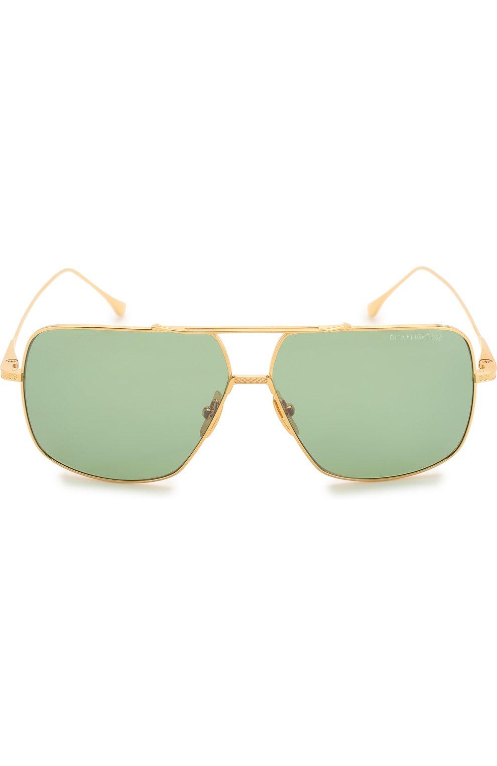 Женские солнцезащитные очки DITA золотого цвета, арт. FLIGHT.005/7805D | Фото 2