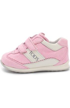 Замшевые кроссовки с застежками велькро   Фото №2