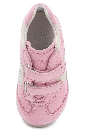 Замшевые кроссовки с застежками велькро   Фото №4