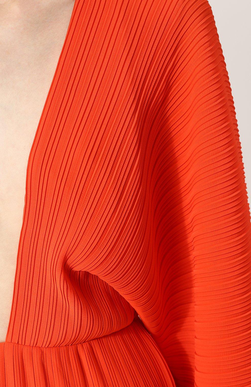 Женский плиссированный комбинезон с v-образным вырезом SOLACE красного цвета, арт. 0S1898   Фото 5
