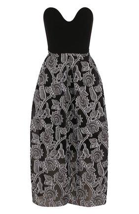 Шелковое платье-миди с принтом    Фото №1