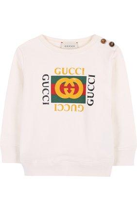 Хлопковый свитшот с логотипом бренда | Фото №1