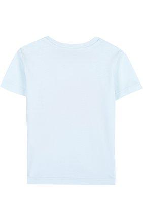Хлопковая футболка с логотипом бренда | Фото №2