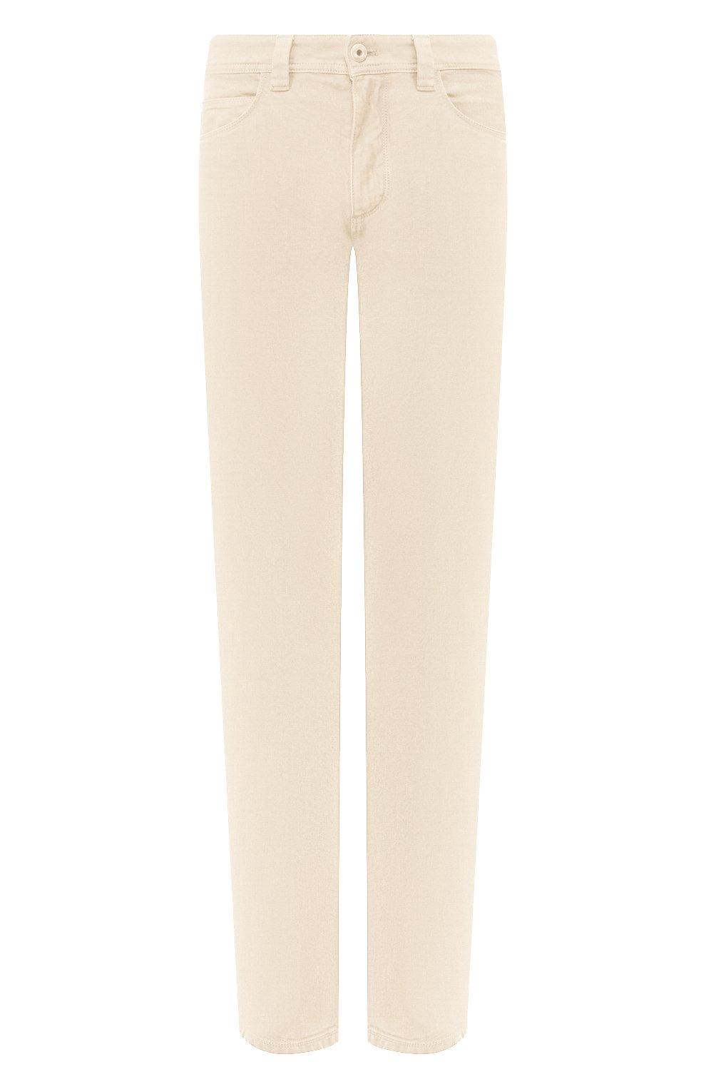 Мужские джинсы LORO PIANA светло-бежевого цвета, арт. FAG1329 | Фото 1