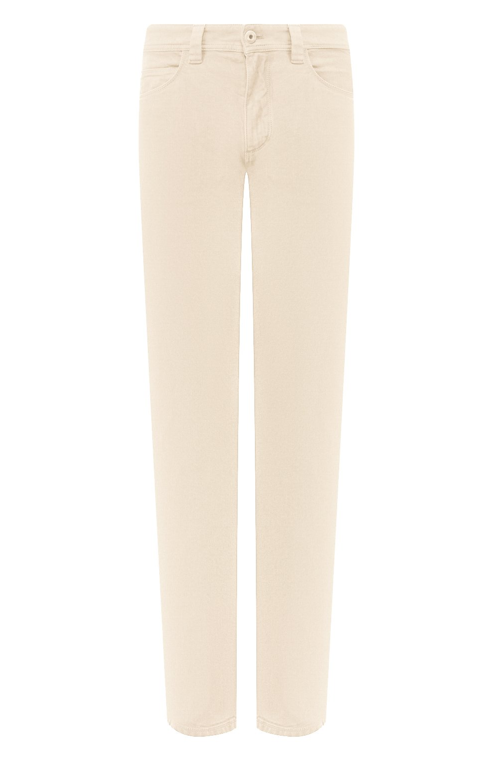 Мужские джинсы LORO PIANA светло-бежевого цвета, арт. FAG1329 | Фото 1 (Силуэт М (брюки): Прямые; Кросс-КТ: Деним; Длина (брюки, джинсы): Стандартные; Материал внешний: Хлопок; Статус проверки: Проверено, Проверена категория)