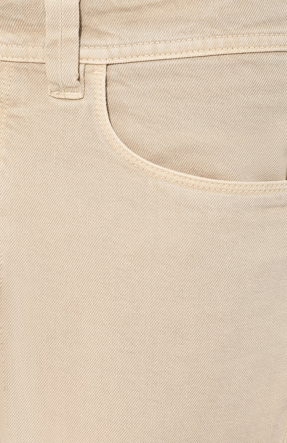 Мужские джинсы LORO PIANA светло-бежевого цвета, арт. FAG1329 | Фото 5 (Силуэт М (брюки): Прямые; Кросс-КТ: Деним; Длина (брюки, джинсы): Стандартные; Материал внешний: Хлопок; Статус проверки: Проверено, Проверена категория)