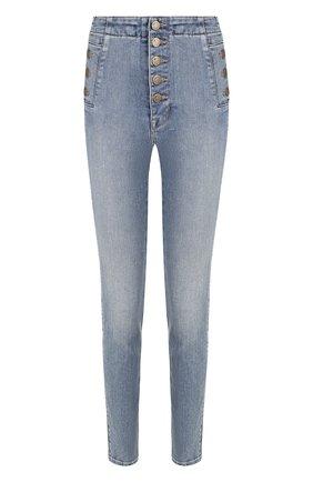 Женские джинсы-скинни с потертостями J BRAND голубого цвета, арт. JB001581 | Фото 1