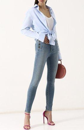Женские джинсы-скинни с потертостями J BRAND голубого цвета, арт. JB001581 | Фото 2