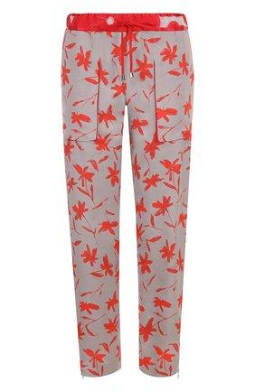 Укороченные брюки из вискозы с карманами и принтом   Фото №1
