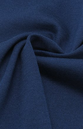 Платок из смеси хлопка и шелка Bilancioni темно-синий | Фото №1