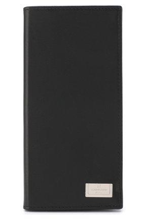 Мужской кожаный бумажник с отделениями для кредитных карт CORNELIANI черного цвета, арт. 00TP03-0021810/00   Фото 1
