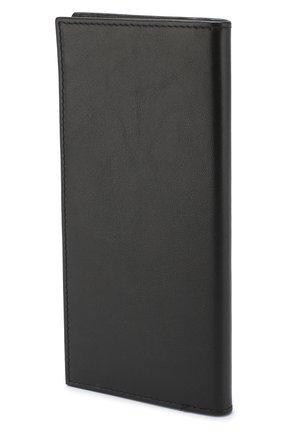 Мужской кожаный бумажник с отделениями для кредитных карт CORNELIANI черного цвета, арт. 00TP03-0021810/00   Фото 2