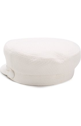 Хлопковая кепка New Abby Maison Michel белого цвета | Фото №2
