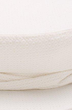 Хлопковая кепка New Abby Maison Michel белого цвета | Фото №3