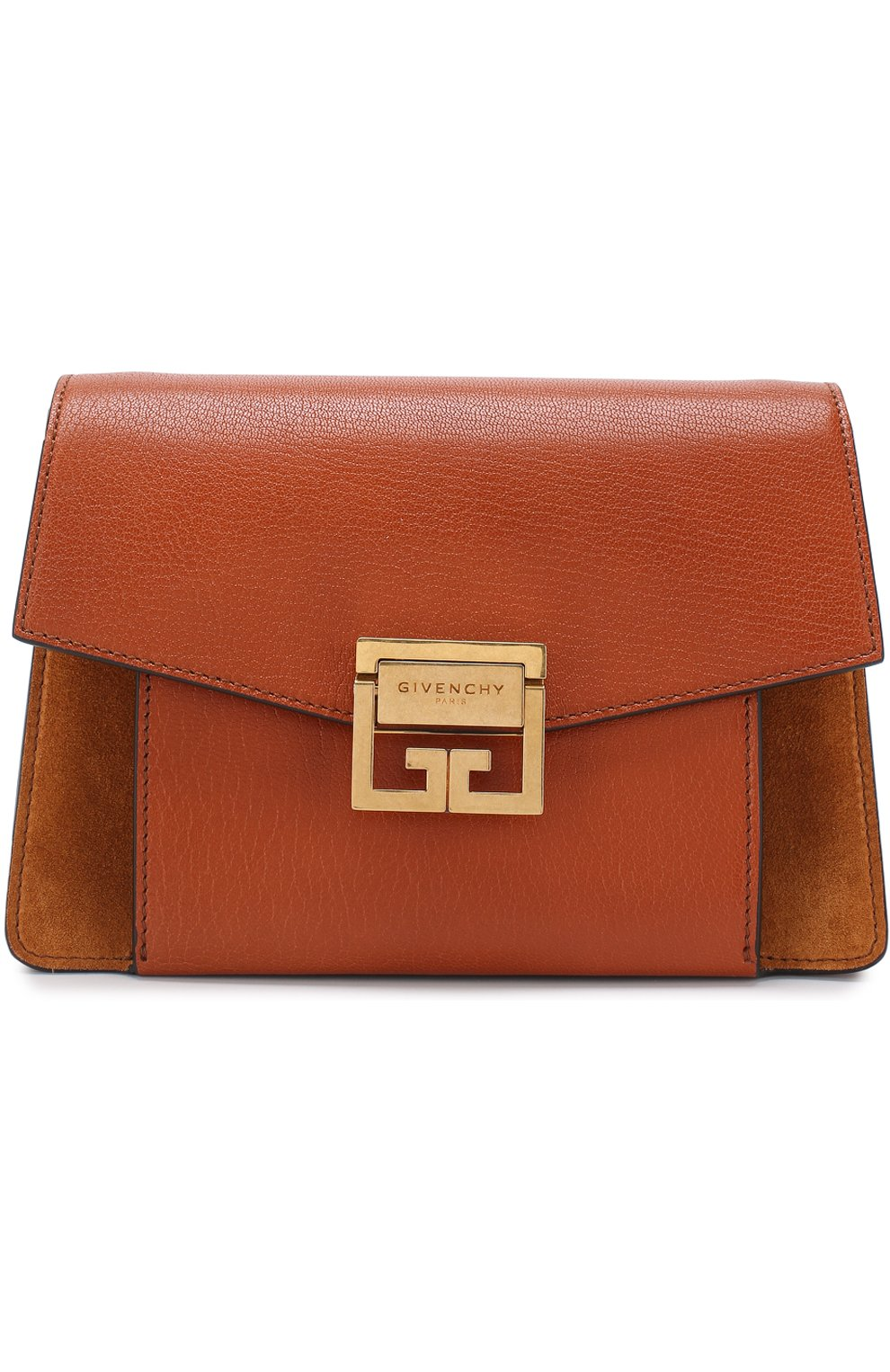 Женская сумка gv3 small GIVENCHY темно-коричневого цвета, арт. BB501CB033   Фото 1