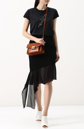 Женская сумка gv3 small GIVENCHY темно-коричневого цвета, арт. BB501CB033   Фото 2