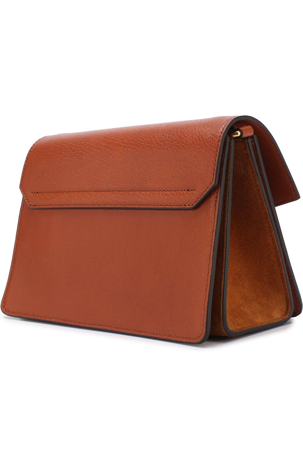 Женская сумка gv3 small GIVENCHY темно-коричневого цвета, арт. BB501CB033   Фото 3
