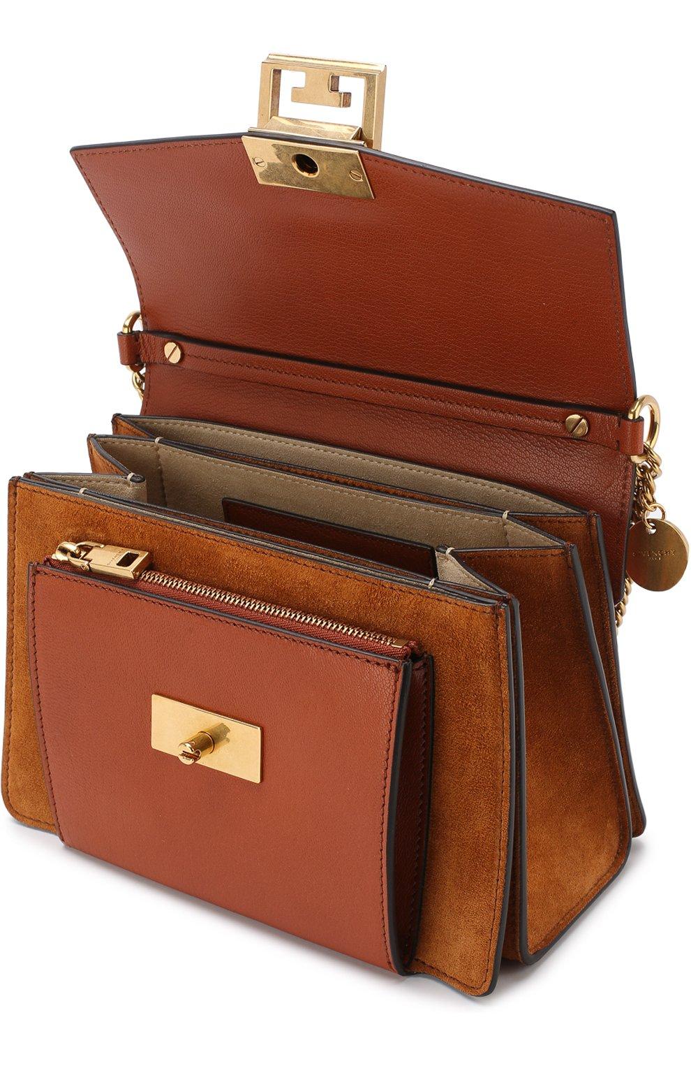 Женская сумка gv3 small GIVENCHY темно-коричневого цвета, арт. BB501CB033   Фото 4