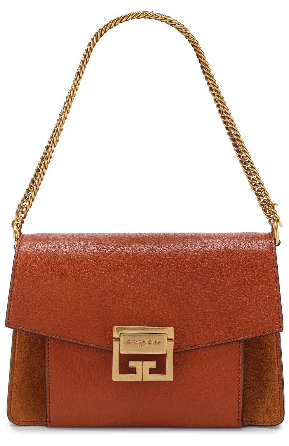 Женская сумка gv3 small GIVENCHY темно-коричневого цвета, арт. BB501CB033   Фото 6