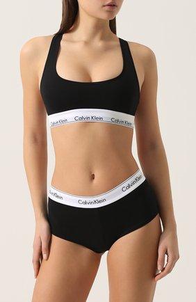 Женские трусы-шорты CALVIN KLEIN черного цвета, арт. F3788E | Фото 2