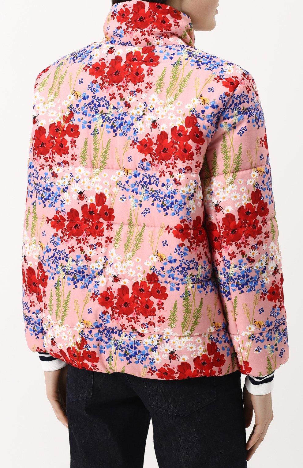 Женский бомбер на молнии с контрастными манжетами и воротником-стойкой MOTHER OF PEARL розового цвета, арт. 1096 A 0TT0   Фото 4