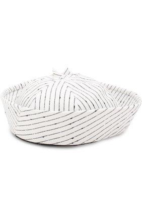 Шляпа Trey с декором Maison Michel белого цвета | Фото №2