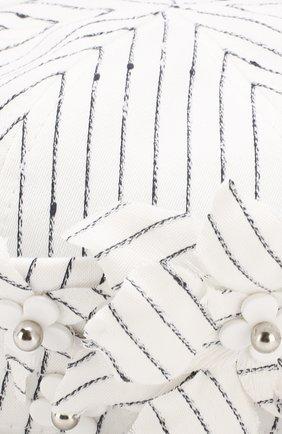 Шляпа Trey с декором Maison Michel белого цвета | Фото №3