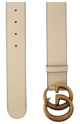 Женский кожаный ремень GUCCI белого цвета, арт. 400593/AP00T   Фото 2