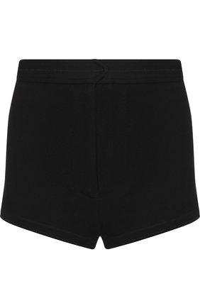 Однотонные мини-шорты из вискозы Moncler черные | Фото №1