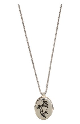 Цепочка с кулоном GFase серебряного цвета | Фото №1