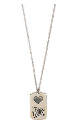 Цепочка с кулоном из серебра GFase серебряного цвета | Фото №1