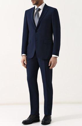 Костюм из смеси шерсти и шелка с пиджаком на двух пуговицах | Фото №1