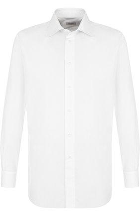 Мужская хлопковая сорочка с воротником кент BRIONI белого цвета, арт. RCL996/PZ024 | Фото 1