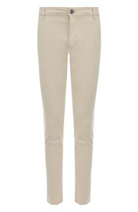 Хлопковые брюки прямого кроя Bogner бежевые | Фото №1
