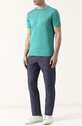 Хлопковая футболка с круглым вырезом Bogner зеленая | Фото №1
