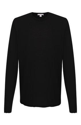 Мужская хлопковый лонгслив JAMES PERSE черного цвета, арт. MKJ3312 | Фото 1