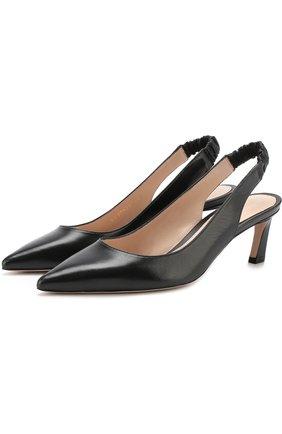 Кожаные туфли Hayday на геометричном каблуке | Фото №1