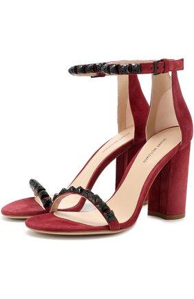 Замшевые босоножки Rosemarie на устойчивом каблуке   Фото №1