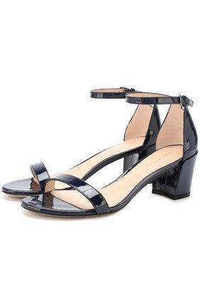 Кожаные босоножки Simple на устойчивом каблуке   Фото №1