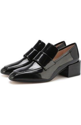 Лаковые туфли Sawyer на массивном каблуке   Фото №1