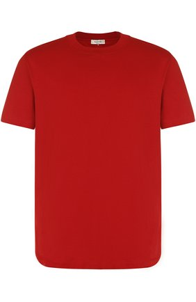 Мужская хлопковая футболка с круглым вырезом VALENTINO красного цвета, арт. QV3MG08Y3LE | Фото 1