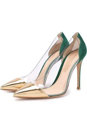 Комбинированные туфли Plexi на шпильке | Фото №1