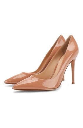 Женские кожаные туфли gianvito 105 GIANVITO ROSSI бежевого цвета, арт. G28470.15RIC.VERPRAL | Фото 1