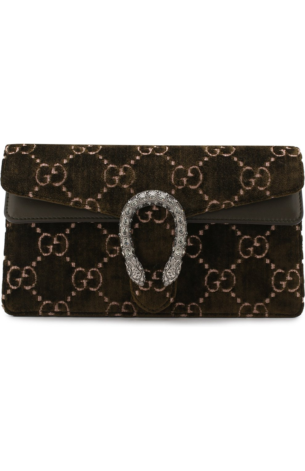 Женская сумка dionysus gg small GUCCI хаки цвета, арт. 499623/9JTAN | Фото 1
