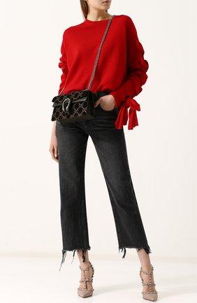 Женская сумка dionysus gg small GUCCI хаки цвета, арт. 499623/9JTAN | Фото 2