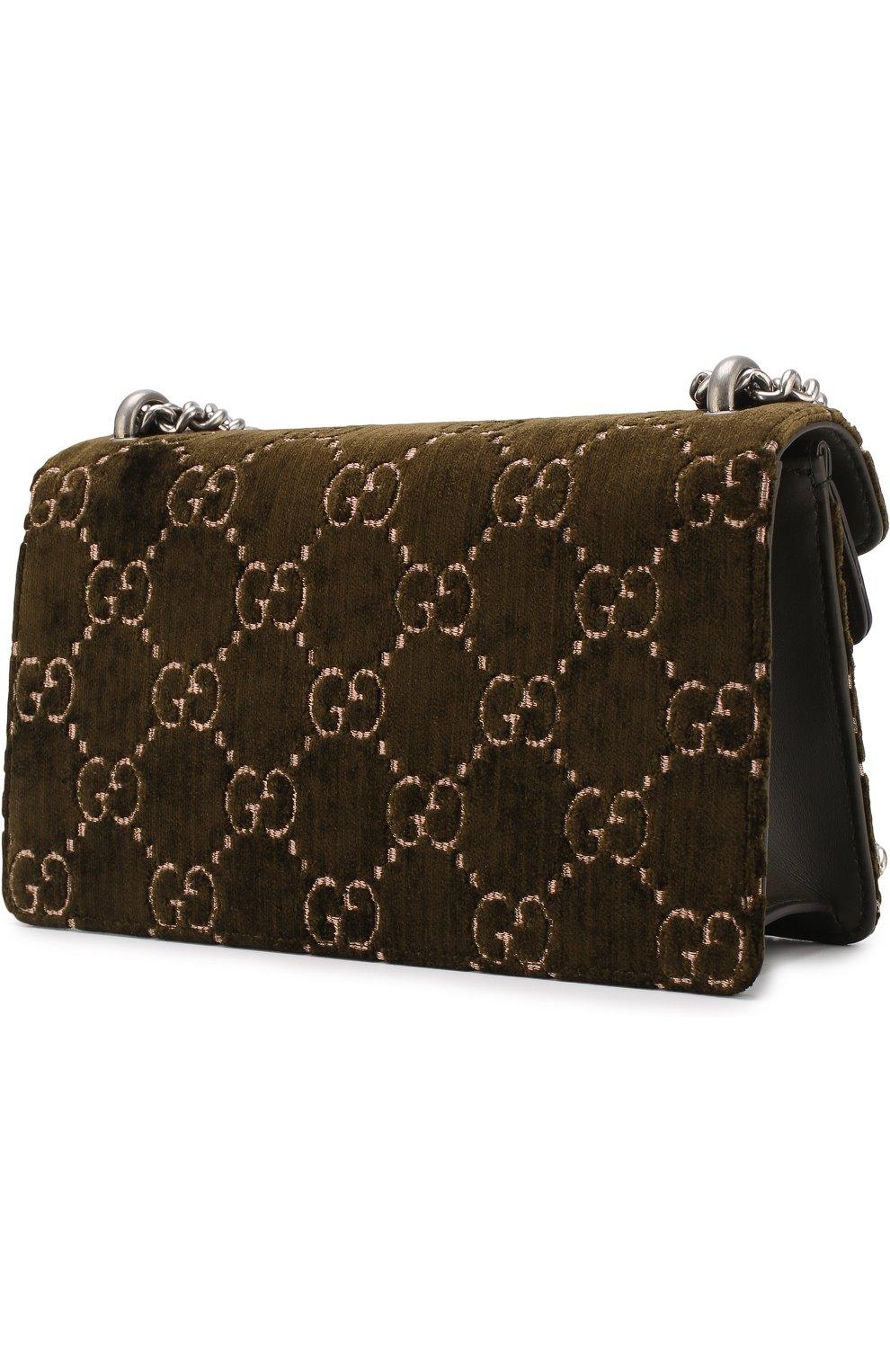 Женская сумка dionysus gg small GUCCI хаки цвета, арт. 499623/9JTAN | Фото 3
